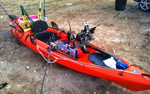 Material pesca en piragua
